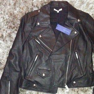 Woman leather coat